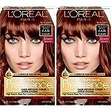 L'Oréal Paris Superior Preference Fade-Defying + Shine Permanent Hair Color, 6AB Chic Auburn Brown, 2 COUNT Hair Dye