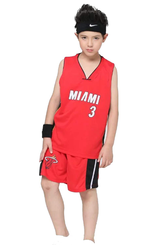Niño Ropa de Baloncesto NBA Heat #3 Wade Jersey Pantalones Cortos ...