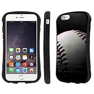 NakedShield Iphone 6 (4.7) Baseball Heavy Duty Shock Proof Armor Art KickStand Phone Case