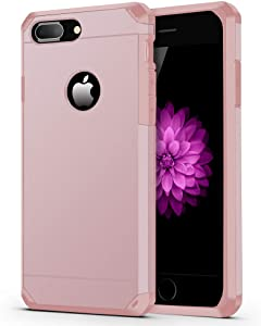 ImpactStrong iPhone 8 Plus Case/iPhone 7 Plus Case Heavy Duty Dual Layer Protection Cover Heavy Duty Case Compatible with iPhone 7 Plus / 8 Plus - Rose Gold