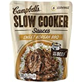 Campbell's Slow Cooker Sauces, Sweet Korean BBQ, 13 Ounce (Pack of 6)