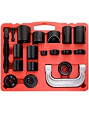 Orion Motor Tech Master Ball Joint Press Kit & U-Joint Puller Service Tool Set 21PCS - Upper and Lower Ball Joint Removal Tool Kit for Ball Joint Service with C-Press