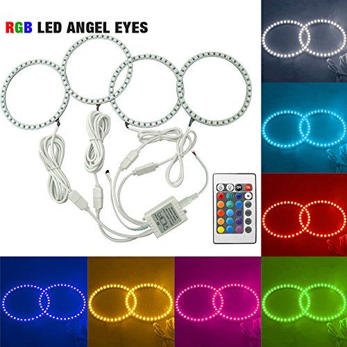 FEELDO Car RGB 5050SMD LED Flash Angel Eyes Halo Ring Light for BMW E30/E32/E34 DRL Headlight