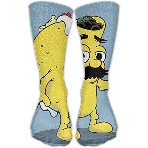 YUANSHAN Socks Taco Dude Cartoon Women & Men Socks Soccer Sock Sport Tube Stockings Length 11.8Inch -