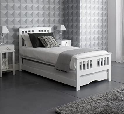 c7db5c027074 WHITE GUEST BED INC TRUNDLE (FREE DELIVERY) NEW!  Amazon.co.uk ...