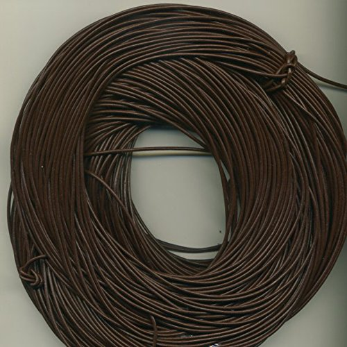 2 mm Brown, Greek Leather Cord, 10 Meter Roll (10.94 Yards)