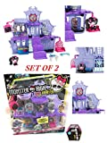 EXCLUSIVE SET - PERFECT GIFT - Monster High Collectible Vinyl Draculaura Playset and SURPRISE BOX MONSTER HIGH MINIS TO COLLECT SERIES 1.