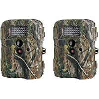 Moultrie I-35 4.0MP 50-Foot Game Trail Camera, 2 Pack (Certified Refurbished)
