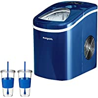 Igloo Compact Ice Maker - Blue (ICE102BLUE) With 2x Eco First Tumbler 24-Ounce Togo Cup Mug - Royal Blue