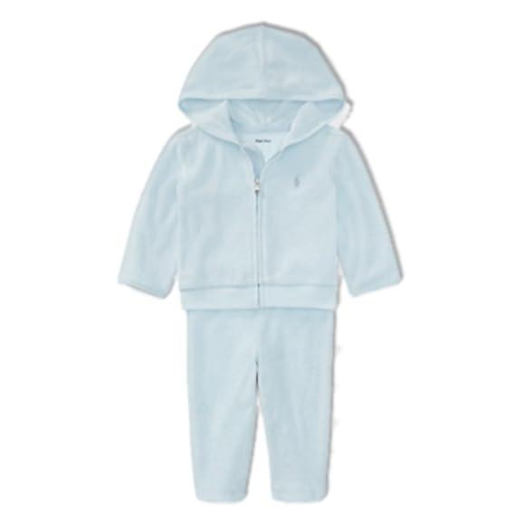 ea1ecab7 Ralph Lauren Genuine Baby Boys Hoodie Tracksuit Set Baby Blue Age 24 ...