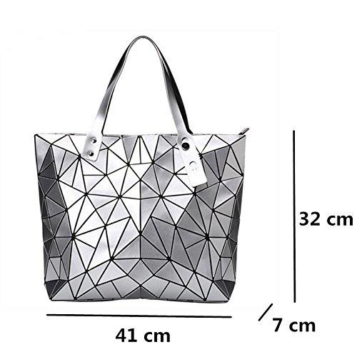 manija de holograma del de Bolsos diseñador las Silver del la superior mujeres mujeres la hombro bolsos geometría de las de femenino Bolso bolso de Bao Bolso de del black zw4Hn