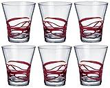 Cheap Bormioli Rocco Ceralacca Tumbler Glasses – 385ml (13oz) – Red – Set of 6