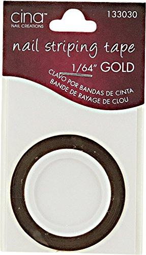 Cina Nail Creations Gold Nail Striping Masking Tape Gold
