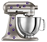 Cat Paw Prints Decal In Purple for KitchenAid Mixer - Classic Cool Artistic - also for MacBook, Laptop, Car, or Anything
