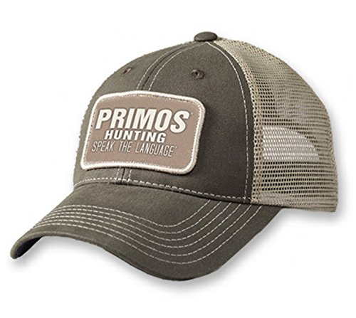 Primos Hats 58686 Logo Patch Cap Charcoal with Mesh Back Loose