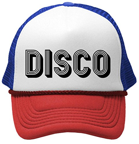 DISCO - music dance 70s retro funky Mesh Trucker Cap Hat, RWB