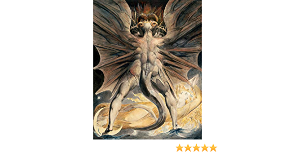 William Blake Great Red Dragon Woman Clothed With Sun Large Canvas Art Print