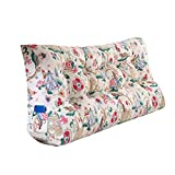 MS Pillow Bed Cushion Bedside Triangle Cushion Pillow Tatami Backrest Lumbar Pillow Protection Waist Sofa Back PP Cotton Beige Pattern Multiple