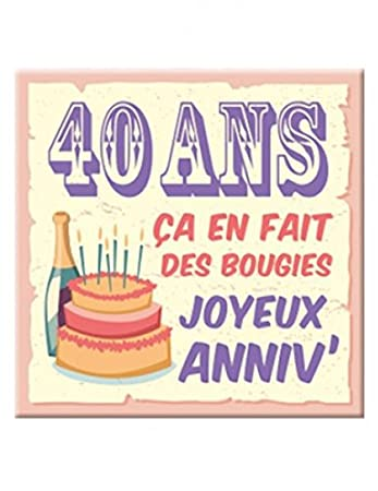 Plaque Message Anniversaire 40 Ans Amazon Co Uk Toys Games