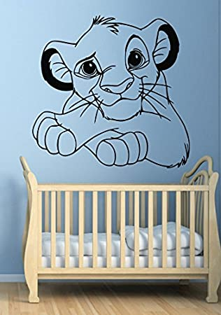 Amazoncom Disney Wall Decal For Boys Girls The Lion King Baby - Lion king nursery wall decals