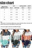 Eytino Women Hoodies Tops Tie Dye Printed Long