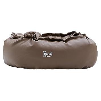 Cama para perros marrón oscuro/Espresso piel sintética | nachfüllbar | tamaño s: 70
