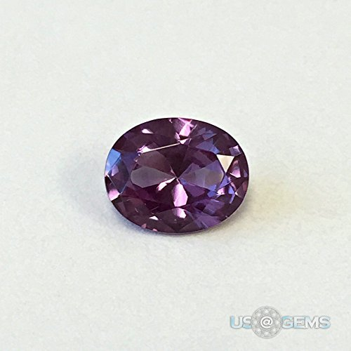 Alexandrite Lab - Alexandrite. Lab Created Corundum Swiss. Oval 10x8mm. 3ct. US@GEMS