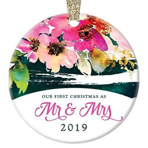 Christmas Ornament Wedding Gift: Amazon.com: First Christmas Mr & Mrs Ornament 2019 Bridal