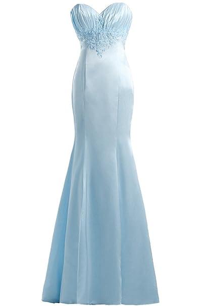 En forma de corazón de la Toscana novia hermosa sirena de satén vestidos de fiesta de