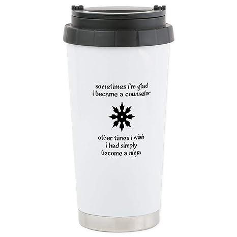 Amazon.com: CafePress Counselor Ninja Copy Stainless Steel ...
