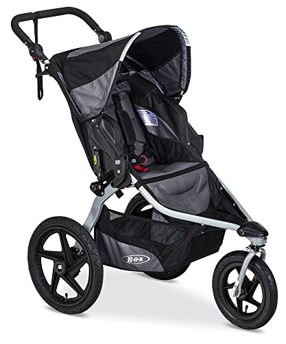 BOB Revolution Flex 2.0 Jogging Stroller - Up to 75 pounds - UPF 50+ Canopy - Adjustable Handlebar, Black (Best Rated Strollers 2019)