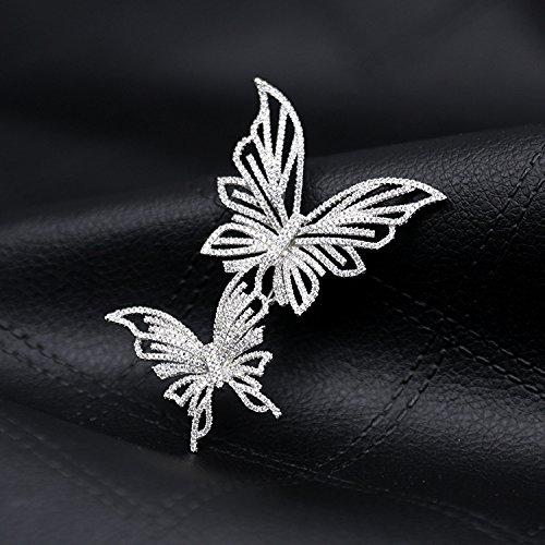 (Dear inn Tao same paragraph brooch strategist Union Tigers & Dragons Qin Hailu double crystal butterfly brooch)