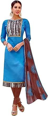 Readymade Cotton Salwar Kameez Embroidered Dupatta Indian Dress