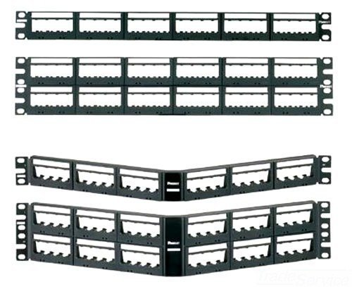 Panduit UICMPPA48BLY Angled 48-Port Patch Panel, Black