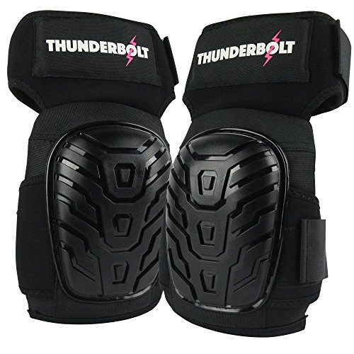 Knee Pads for Women by Thunderbolt with Heavy Duty Gel Cushion Perfect for Work, Construction, Flooring and Gardening with Adjustable Non-Slip Straps