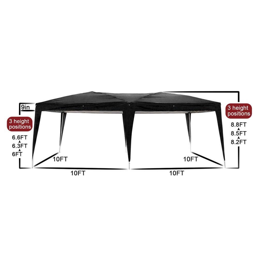 Blacgic Folding Tent Protable Instant Wedding Party Gazebo Pavilion with 6 Removable Sidewalls by Blacgic (Image #8)