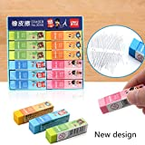 36 pcs/Lot Macaron color eraser PVC 4B colored eraser Stationery Office supplies Material escolar borrachas gomme