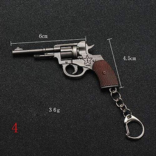 RUTILISM Exquisite Pistol Revolver Weapon Model Pendant Keychain
