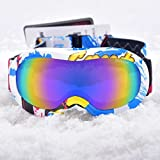 Triwonder Ski Goggles - Over Glasses Ski / Snowboard Goggles for Kids & Teenage with UV Protection, Windproof, Anti Glare