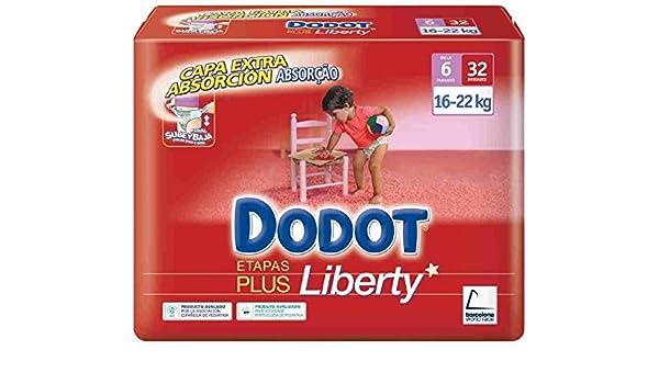 Dodot - Pañales Dodot Liberty Plus T6 32 uds: Amazon.es: Salud y cuidado personal