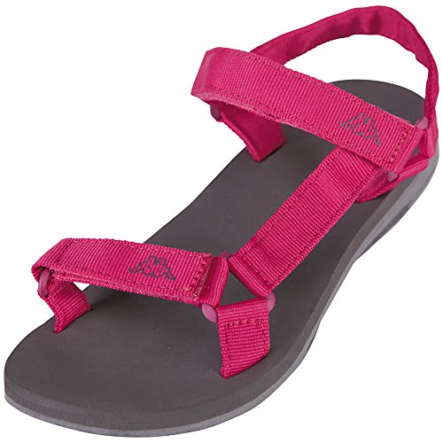 Kappa Shaky, Sandalias de Punta Descubierta para Mujer Rosa (Pink/anthra)