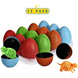 12 Pack Dinosaur Eggs with 3D Puzzle Dino...