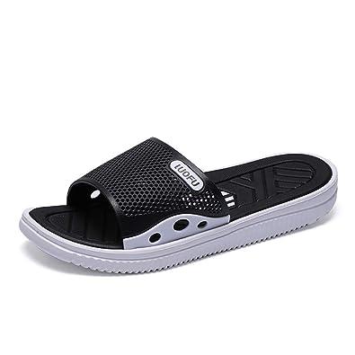 Mens Fashion Sliders Open Toe Slippers Sandals Indoor Slides Flip Flops Summer