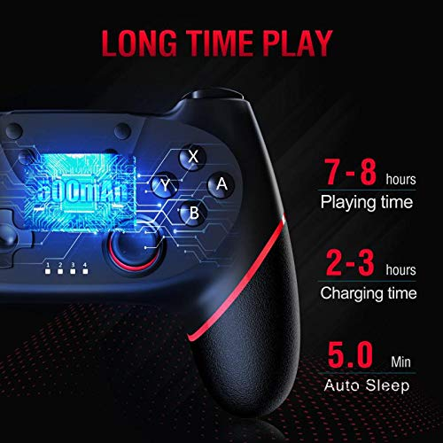Gamory Wireless Pro Controller for Nintendo Switch, Controller for Switch/Switch Lite, Supporting Motion Control, Dual Vibration & Turbo Function [Upgraded Version]