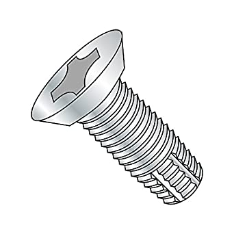Zinc Plated Small Parts 1480FPF 5 Length 82 Degree Flat Head 1//4-20 Thread Size 5 Length Pack of 5 Pack of 5 1//4-20 Thread Size Phillips Drive Steel Thread Cutting Screw Type F