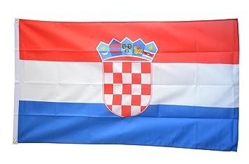 Tischfahne Kroatien gratis Aufkleber Flaggenfritze/® Tischflagge