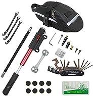 CHUMXINY - Kit de reparación de bicicletas, kit de herramientas de reparación de neumáticos de bicicleta, 16 e