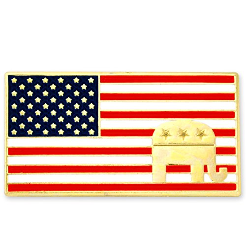 The Republican Elephant (PinMart's American Flag Republican Elephant Patriotic Enamel Lapel Pin)