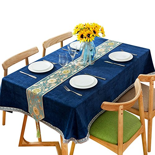 CGN テーブルクロス、ピクニック布カバー布レトロブルーテーブルクロスダイニングテーブル小さなラウンドテーブルロングテーブルテーブルクロスコーヒーショップレストランケーキショップテーブルクロスの長さ90-240cm ( サイズ さいず : 140*180 cm ) B078W4BXB9 140*180 cm 140*180 cm