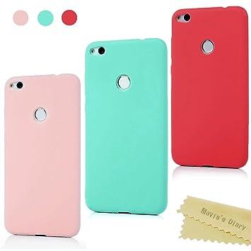 Maviss Diary Huawei P8 Lite 2017 Funda Carcasa Silicona Gel Goma Flexible Case Ultra Delgado TPU Cover Protectora para Huawei P8 Lite 2017 - ...